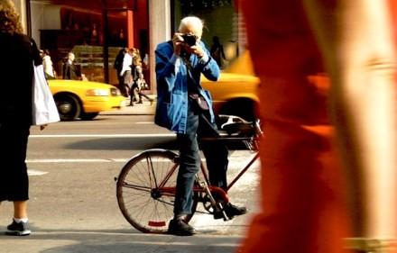 """Still from """"Bill Cunningham New York."""""""