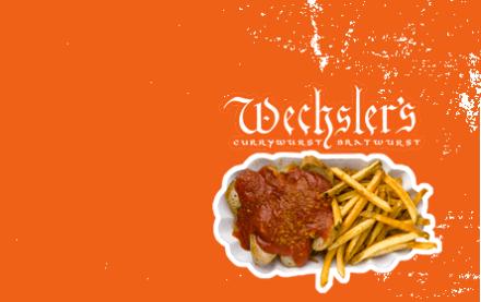 Currywurst alla Wechsler's.